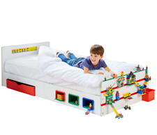 NEW SINGLE BED Room 2 Build Kids Storage Play Lego HelloHome Worlds Apart
