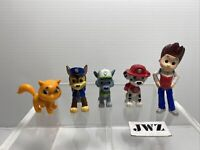 Paw Patrol 4 Mini Figures + Rare Cat Bundle - 🐶🐱