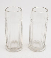 Soda Fountain Glass Straw Holders Matched Pair No Top Pull (B2L) Heavy Parlor