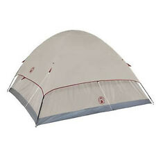 Coleman Small Camping Tent Hiking 4 Person Cabin Dome Instant Shelter Gray Bag