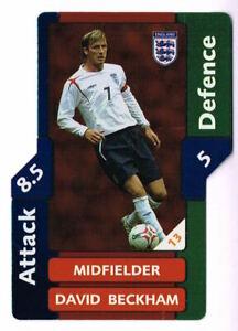 David Beckham - New Foil Card - MATCH ATTAX England 2006 Topps World Cup 06