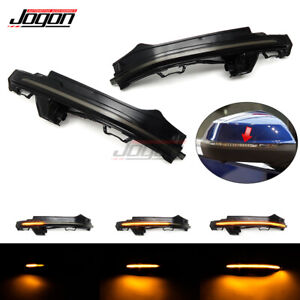 Side Rearview Mirror Dynamic Sequential Turn Signal Light For Audi Q7 4M 2016-18