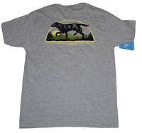 Columbia Grey PHG Hunting Gear Short Sleeve Graphic T-Shirt Mens Large Black Dog
