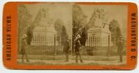Statue of the President , Washington DC Vintage Stereoview Photo