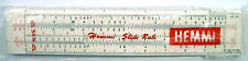 "Hemmi 74 bamboo 6"" imperial Reitz slide rule Made c.1966 + instructions & wallet"