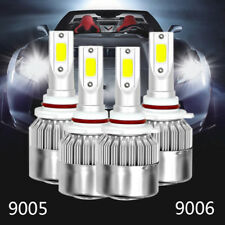 Combo 9005 9006 LED Headlight Bulb 6000K for GMC Sierra 1500 2500 HD 2001-2006