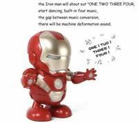"free ship Iron Man Avengers 6"" Figure Dancing Robot Flashlight & Music Sound"
