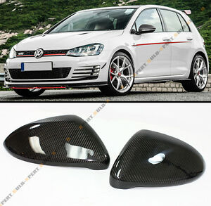 Direct Replacement Carbon Fiber Mirror Cover Caps For 2015-2019 VW Golf GTI MK7