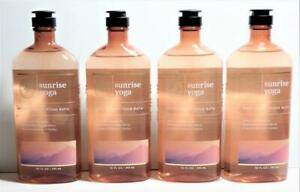 4 Bath & Body Works Aromatherapy SUNRISE YOGA Body Wash 10 oz