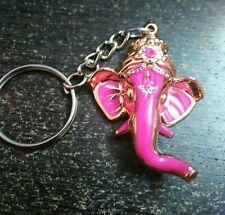 Lord Ganesha Ganapathi Keychain Gift for Temple devotee Pink Keychain God Ganesh