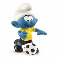 Schleich Smurfs Football Smurf With Ball Coach Figure 20806 NEW IN STOCK