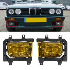 Pair GLASS foglamps foglights fogs Fog yellow BMW E30 facelift 88-95 E marked