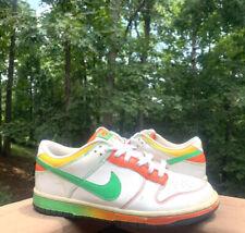 Nike Sb Dunk Low 6.0 White Rasta Green Orange Yellow314142-131 2009 Men Size 8.5