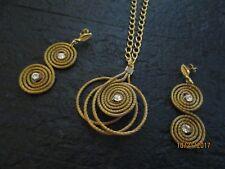 Set Gold Plated Brazil Artisan Made Golden Grass Necklace/Earring