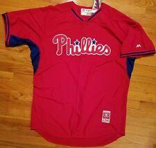 WOW  Philadelphia PHILLIES Authentic BATTING Jersey Mens 40 baseball cool- base c601cd5f2