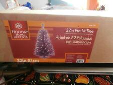 "Pre Lite Artificial Purple 32"" Christmas Tree Iob Works Easter"