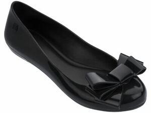 Zaxy Pop Glamour Bow Black Womens Ballerinas Shoes