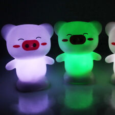 Happy Pig Shape Colorful LED Night Light Home Party Decorations Bedroom Lamp