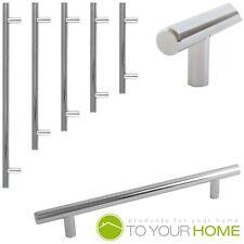 T Bar Chrome Kitchen Cupboard Cabinet Drawer Door Handles 5 Sizes
