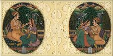 Mughal Dynasty Painting Handmade Watercolor Moghul Harem Indian Miniature Art