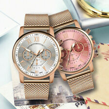 Rose Gold Women's PVC Mesh Belt Watches Geneva Ladies Quartz Wrist Watch Gift