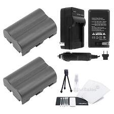 2x D-LI50 Battery + Charger for Pentax K10D K20D