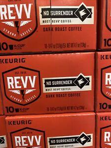 REVV No Surrender Single-Serve Keurig K-Cup Pods Dark Roast Coffee 60 Count