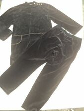 Sonia Rykiel crushed velvet Velour tunic lounge  set casual pant set suit med