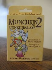 New! Munchkin 2 Unnatural Axe Expansion Card Game