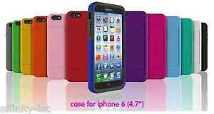 iPhone 5 6 and 6 Plus Case Cover Credit Card Slot Holder Flip Back Stand Apple