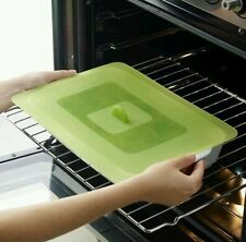 Lekue 13.8 by 9.8-Inch Multifunction Suction Lid~Green~Oven & Microwave Safe