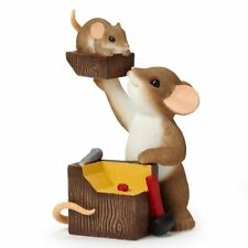 Charming Tails A Real Chip Off The Old Block figurine 2014 Enesco NIB