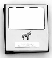More details for donkey design silver personalised photo album free engraving 100 photos 108