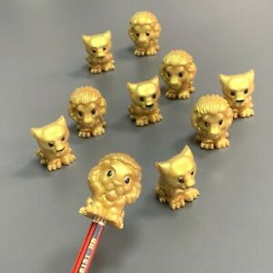 10Pcs Ooshies Limited Edition Disney Lion King Gold Cub Simba Pencil Topper Toy