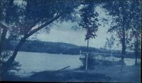 Lake Moraine NY - Morrisville Station NY 1910 Cancel Real Photo Postcard