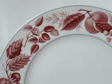"Ridgway Bountiful Red Pattern Salad Plate 8"" Staffordshire England"