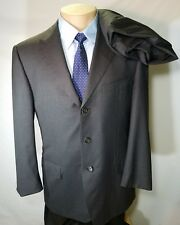 ERMENEGILDO ZEGNA 15 MILMIL 15 MEN'S SUIT CHARCOAL GRAY 100% WOOL 40R 33X27