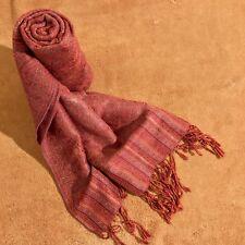 Women's Scarf Boho Shawl Wrap Bohemian Scarf Orange Paisley Fringe Design