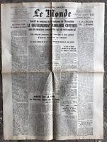 N62 La Une Du Journal Le Monde 6 Mai 1947