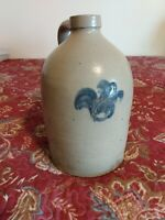 Antique Jug, 1 Gallon, Cobalt Decoration