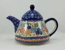 Bunzlauer Keramik Teekanne spitz, Kanne für 0,9Liter Tee, signiert (C005-KOKU)