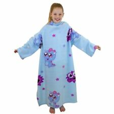 Moshi Monsters Girls Kids Blue Pink Character Warm Sleeved Fleece Blanket Throw