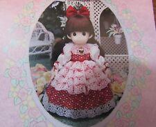 """Precious Moments Classic doll """"RACHAEL"""" 16"""" BROWN HAIR RED DRESS"""