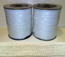 ELECTRIC FENCE TAPE - 2 x 12mm White 400m Poly Fencing Horse Strip Grazing