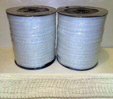 Ruban clôture électrique - 2 x 12mm blanc 400m poly bande CHEVAL ESCRIME pâturage