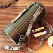 WWII GERMAN ARMY GAS MASK CANISTER STEEL JAR SHOULDER STRAP Replica