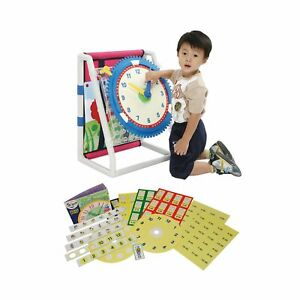 Learning Board with Clock, Colours and Shapes Children's Clock