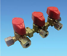 Caravan/Motorhome 8MM Triple Copper Pipe Gas Tap