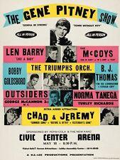 Gene Pitney Civic Centre 40.6cm x 30.5cm Foto Repro Konzert Poster