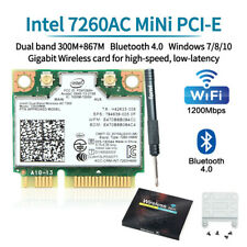 Intel Wireless-AC 7260HMW Network Card Dual Band 802.11abgn+ac 2x2 Bluetooth 4.0